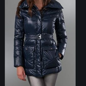 ADD Shiny down Puffy belted Coat.  Sz  4